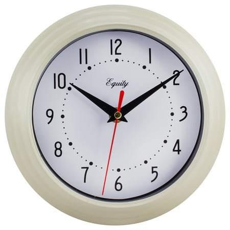 Equity By La Crosse 25015 8 Inch Almond Basics Analog Quartz Wall Clock