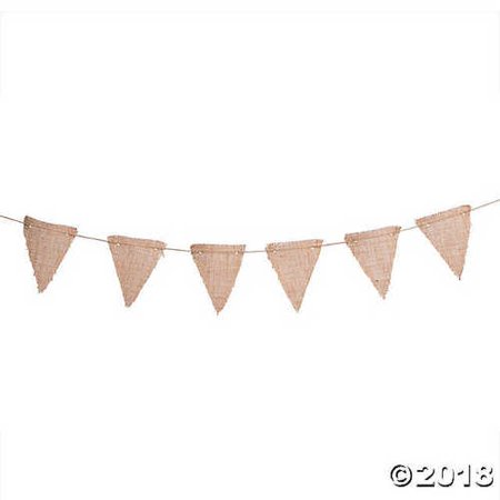 Burlap Triangle Pennant Garland - Large