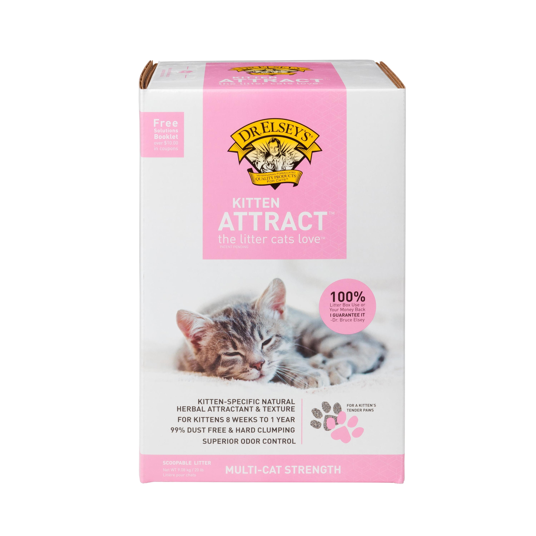 Dr Elsey S Precious Cat Kitten Attract Clumping Clay Cat Litter 20lb Box Walmart Com Walmart Com