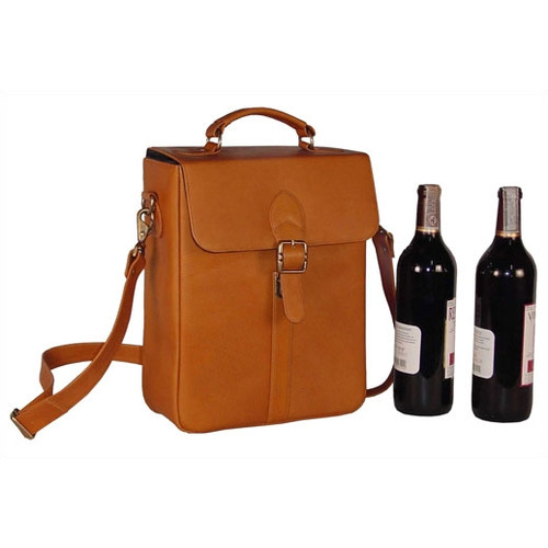 David King Structured Double Wine Bottle Carrier
