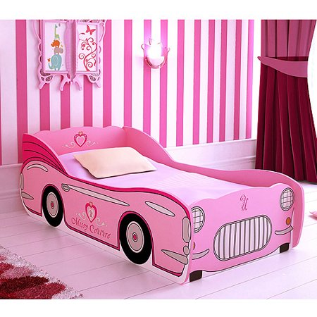 Missy Couture Convertible Car Toddler Bed Pink