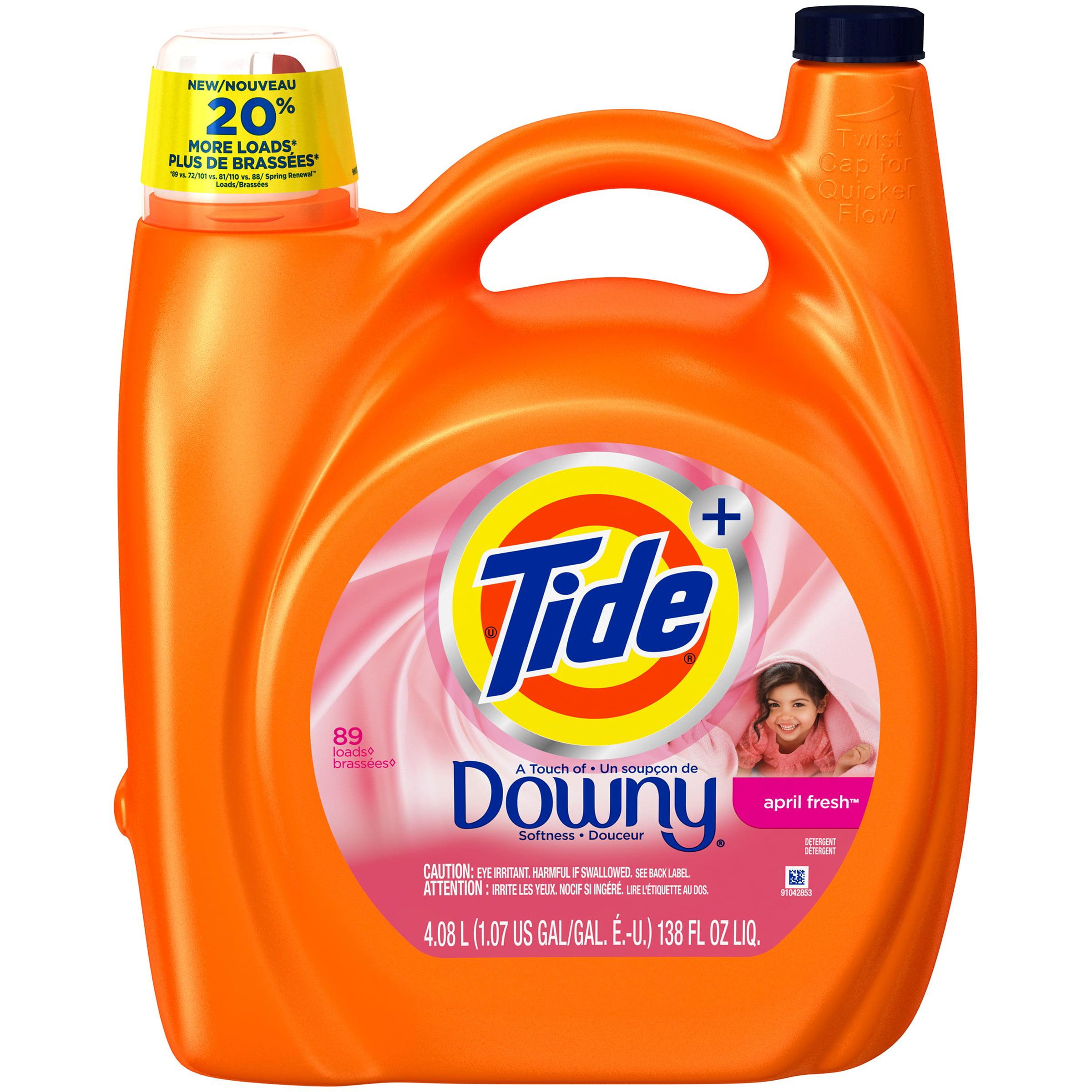 Tide Plus a Touch of Downy April Fresh Liquid Laundry Detergent 138 fl oz