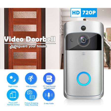 Video Security Door (EEEKit WiFi Video DoorBell, Wireless Smart HD Security Camera Two-Way Talk Video Doorbell, Video Phone Door Visual Ring Home Secure Cam Record, App Control for iOS)