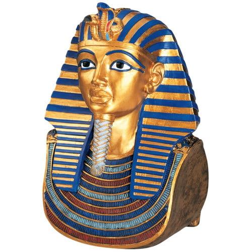 Design Toscano Tut and Nefertiti The Golden Mask of Tutankhamen Bust