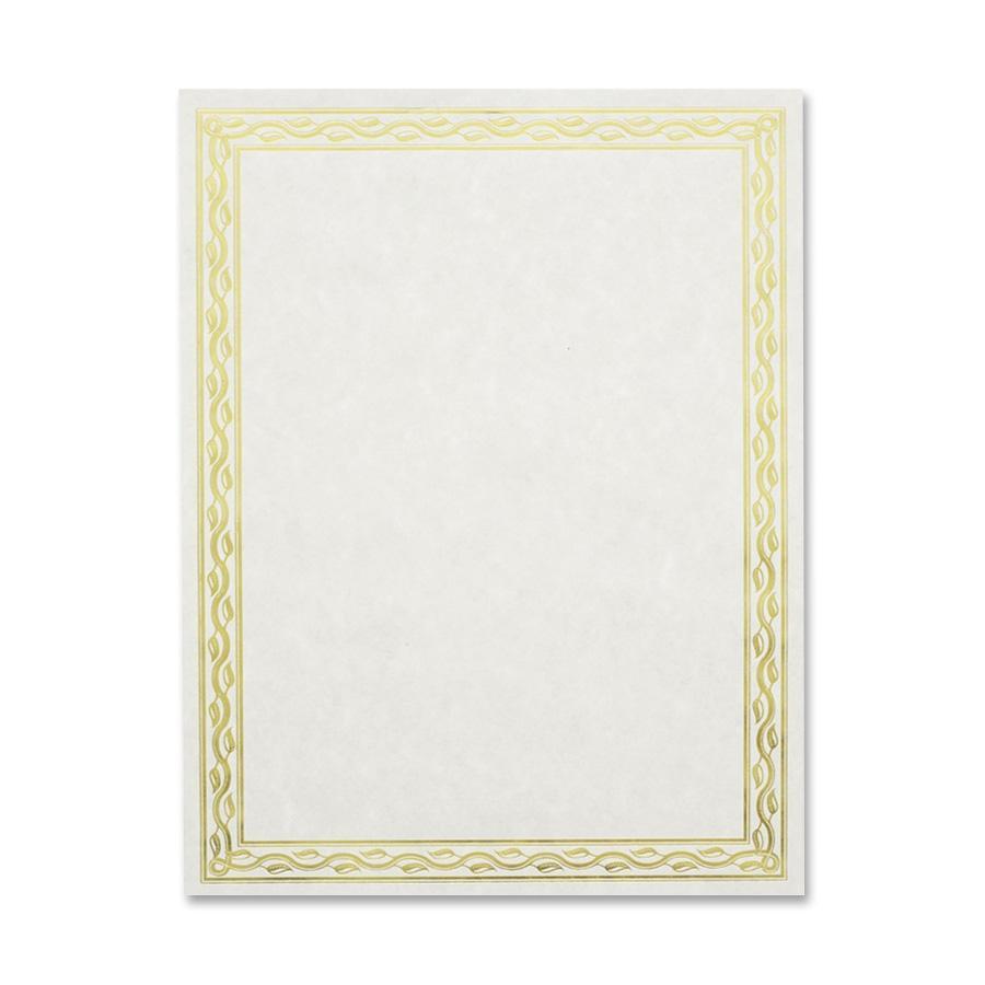 Geographics, GEO44407, Premium Gold Foil Border Certificates, 12 / Pack, Gold