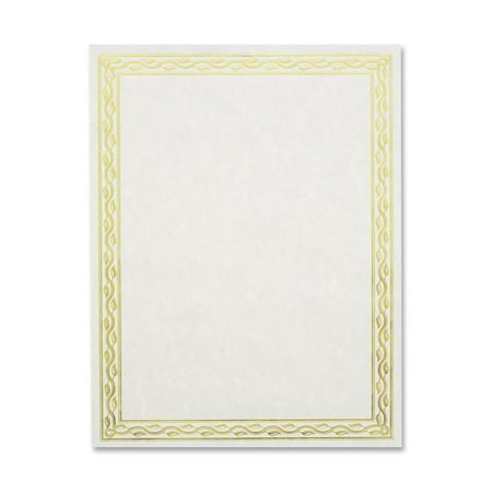 Geographics, GEO44407, Premium Gold Foil Border Certificates, 12 / Pack, Gold (Keepsake Certificate)