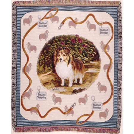 Shetland Sheepdog Sheltie Tapestry Throw 50