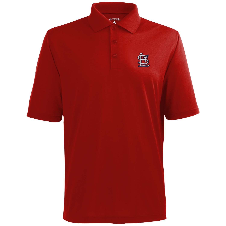 St. Louis Cardinals Antigua Desert Dry Xtra-Lite Team Polo - Red