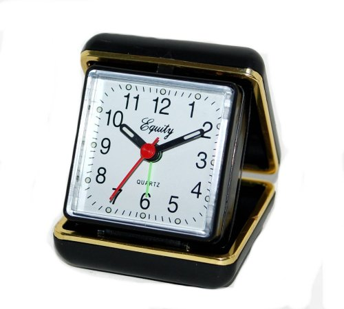 Equity by La Crosse 20080 Folding Travel Quartz Alarm Clock by Equity By La Crosse