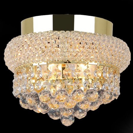 Gold Flush Set - Worldwide Lighting W33011G8 Empire 3-Light 8