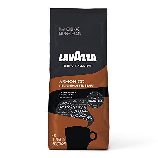 Lavazza Armonico Whole Bean Coffee Blend, Medium Roast, Medium Roast, 12 Ounce