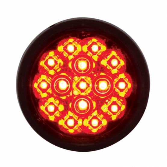 "15 LED 2 3/8"" Harley Turn Signal - Red LED/Smoke Lens"