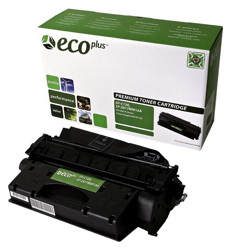 ECOPlus ™ Remanufactured Toner Cartridge for Canon 120, 2617B001AA (Premium Quality TONER CTG, BLACK, 5K YIELD)