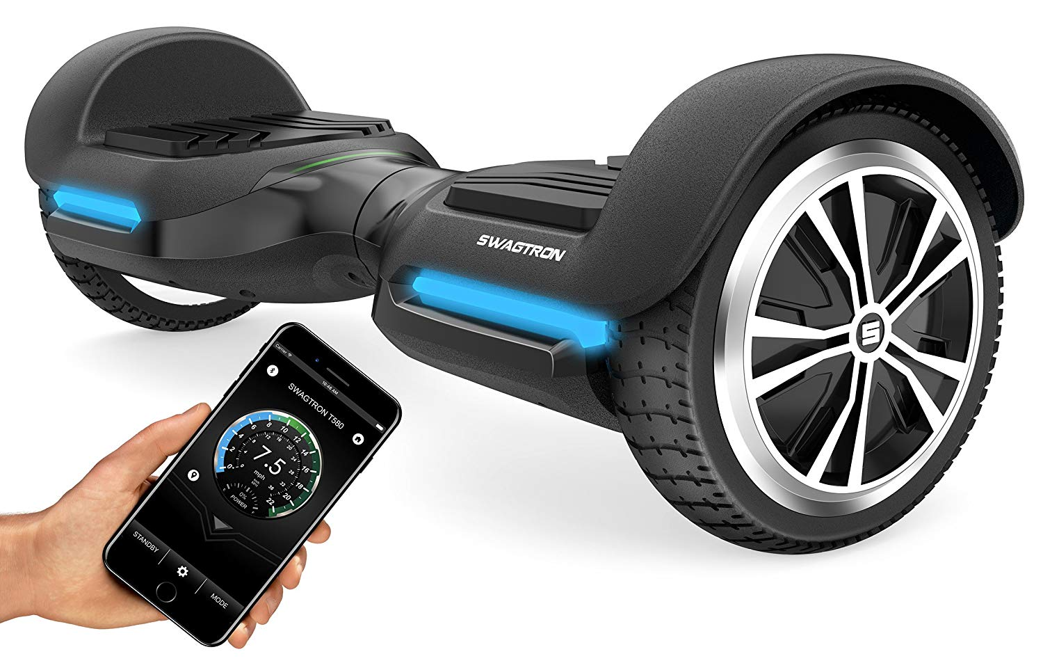 swagtron swagboard vibe hoverboard with bluetooth speakers. Black Bedroom Furniture Sets. Home Design Ideas