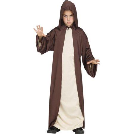 Hooded Robe Black Child Costume, One Size - image 1 de 1