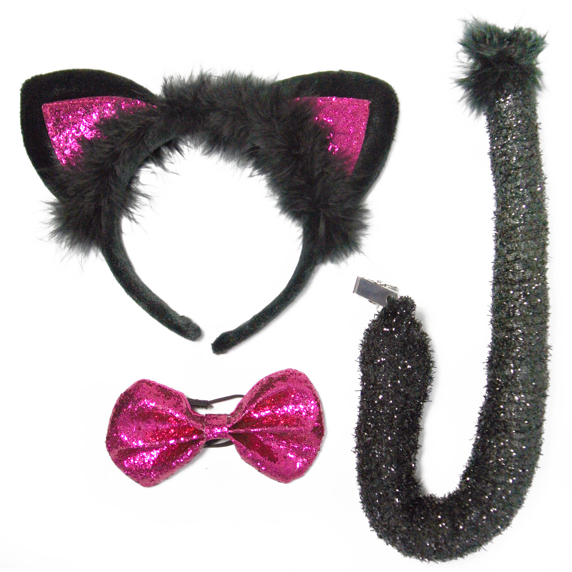 Hot Pink Cat Ears Halloween Accessory Kit