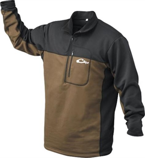 Drake Outdoors DW161-L Men's Waterfowl LST Base Layer Pullover Brown Large by Drake Outdoors