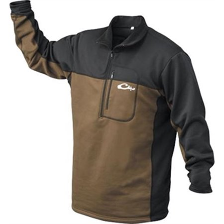 Drake Outdoors DW161-L Men's Waterfowl LST Base Layer Pullover Brown Large