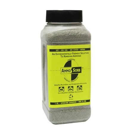 Absorbent Granules - AMMOSORB Natural Ammonia Spill & Odor Absorbent  Deodorizer Granules: 2 lb.