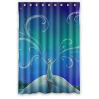 Ganma Frozen Cartoon Movie Elsa Shower Curtain Polyester Fabric Bathroom Shower Curtain 48x72 inches