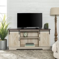 "Manor Park 58"" Modern Farmhouse Sliding Barn Door TV Stand - Multiple Finishes"