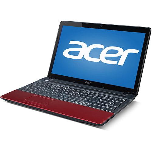 "Acer Red 15.6"" Aspire E E1-531-4461 Laptop PC with Intel Pentium 2020M Processor, 4GB Memory, 500GB Hard Drive and Windows 7 Home Premium"