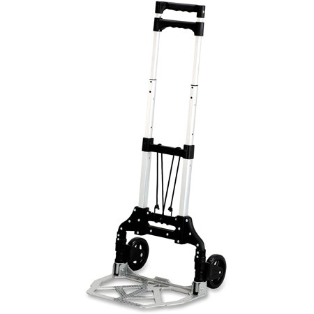 Safco, SAF4049, Stow-Away Hand Truck, 1 Each, Silver,Black