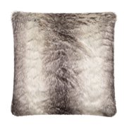 """Better Homes & Gardens Feather Filled Faux Fur Ombre Decorative Throw Pillow, 20""""x 20"""""""