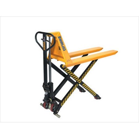 Wesco 272976 21 in. W x 48.5 in. H x 56 in. D Manual High Lift Pallet Truck ()