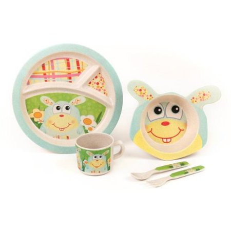 Green Frog Baby GFF006 The Bunny Bamboo Kids Meal Set