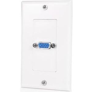 StarTech Single Outlet 15-Pin Female VGA Wall Plate