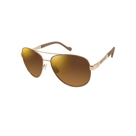 60MM Aviator Sunglasses (Jessica Simpson Gold Aviator Sunglasses)