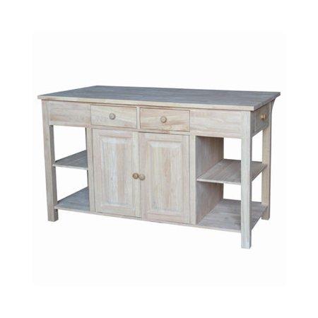 international concepts unfinished kitchen island. Black Bedroom Furniture Sets. Home Design Ideas