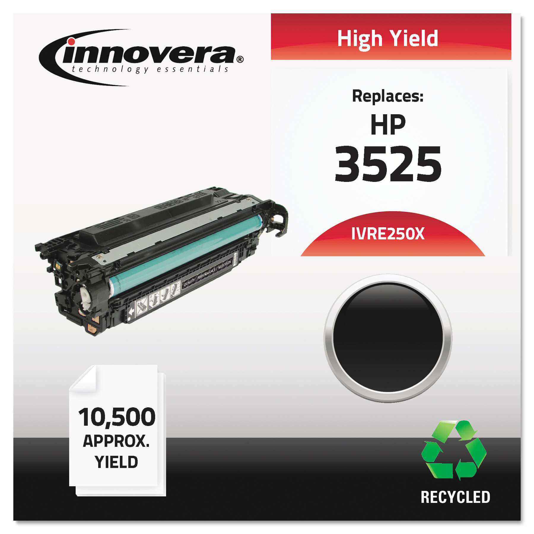 Innovera Remanufactured CE250X (504X) Laser Black Toner Cartridge