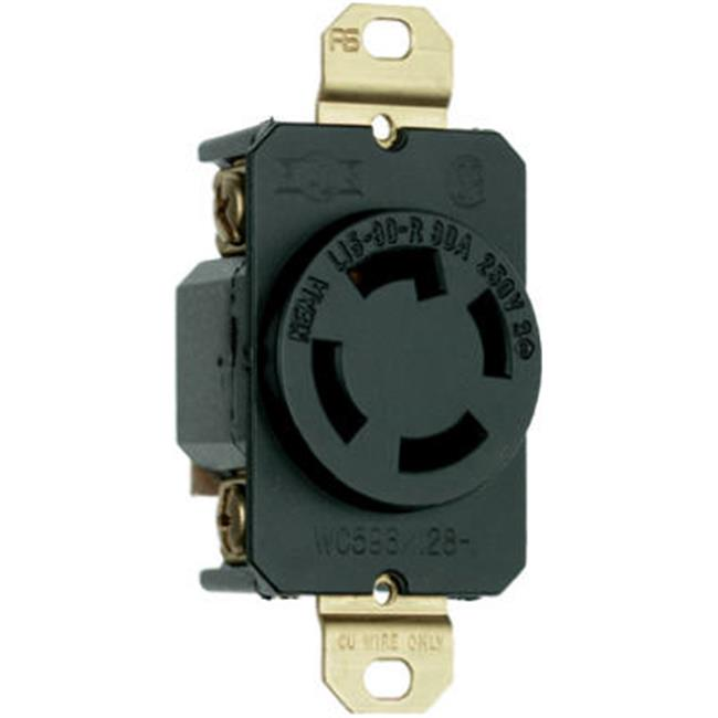 L1530r 30a 250v 3 Pole 4 Wire Grounding Locking Outlet