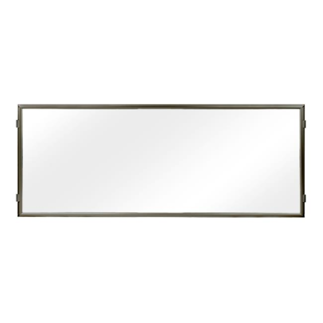 Lavi Industries 50-HFP1004-MB-CL Hinged Frame Sign Panel And Barrier, Matte Black