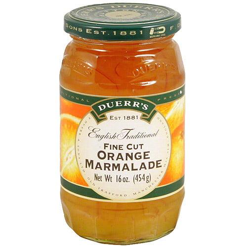 Duerr's Orange Fine Cut Marmalade, 16 oz  (Pack of 6)