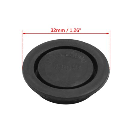 Black Car Rubber Grommet Plug Flush Mount Wire Gasket Interior 32mm x 8mm - image 2 of 3