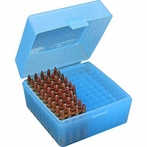 MTM RS Flip Top, 100-Round Ammo Case, Blue