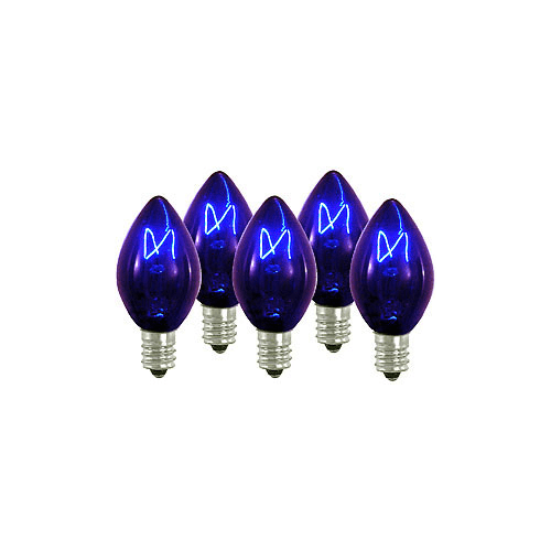 Christmas at Winterland WL-C7-B Pack of (25) Blue Dimmable C7 E12 Base Incandesc