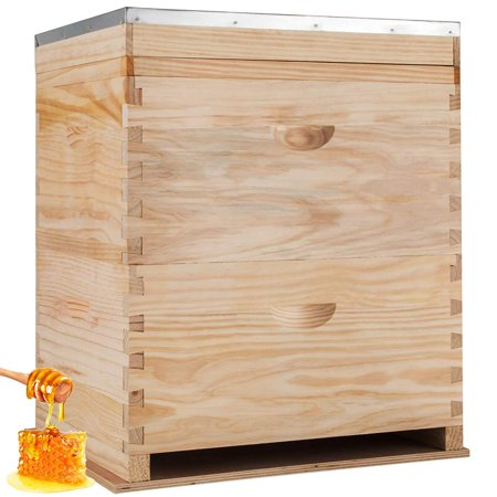 BestEquip 2 Layer Langstroth Bee Hive 20 Frame Beehive 10 Medium / 10 Deep Langstroth Hive Kit ()