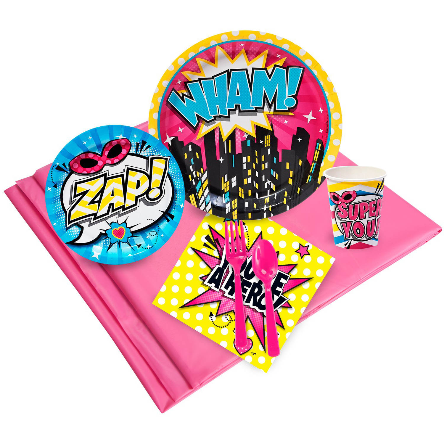 Superhero Girl Party Pack for 16