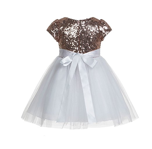 Cap Sleeves Sequins Flower Girl Dresses Toddler Girl Dresses Easter summer dress