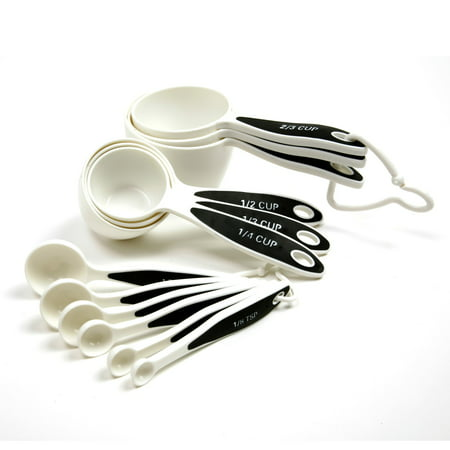 Pewter Measuring Cups Spoons - 12 Piece Measuring Set with Cups and Spoons