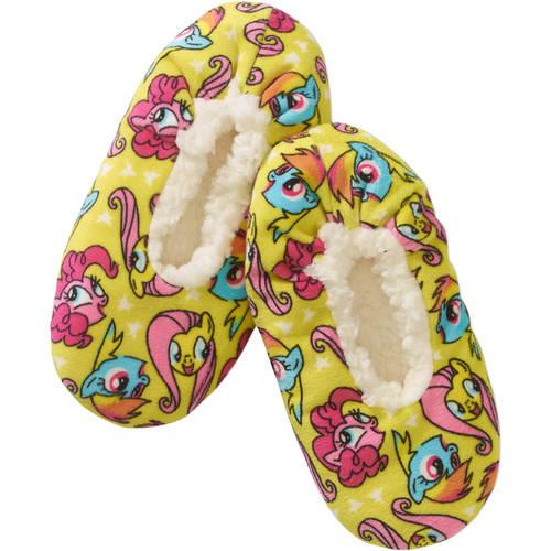 Fuzzy Babba Slipper Socks, 1 Pair (Little Girls & Big Girls)