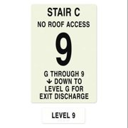 INTERSIGN NFPA-PVC1812(CGN9) NFPASgn,Stair Id C,Flrs Srvd G to 9 G0262949