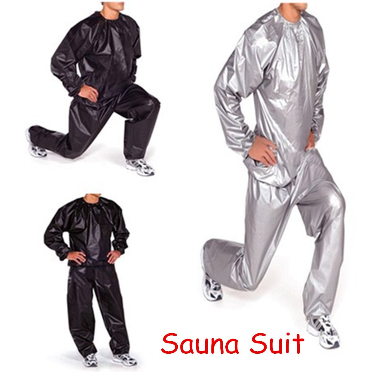Unisex Sauna Suit Weight Loss Fitness Sweat Suit Sauna Yoga Stretch Workout Suit Exercise Gym