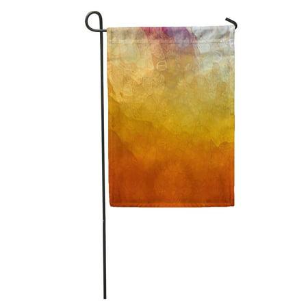 KDAGR Abstract Multicolor Glossy Glass Corner Spotlight Sunshine and Blotchy Mosaic Garden Flag Decorative Flag House Banner 12x18 inch ()