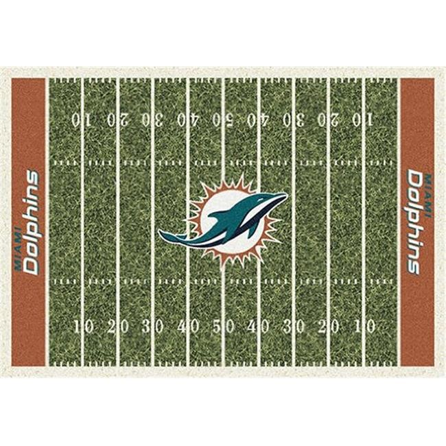 Milliken 4000019897 3 ft. 10 in. x 5 ft. 4 in. NFL Team Home Field Miami Dolphins Area Rug - Rectangle