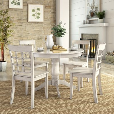 Lexington 5 Piece Dining Set With Round Table And 4 Window